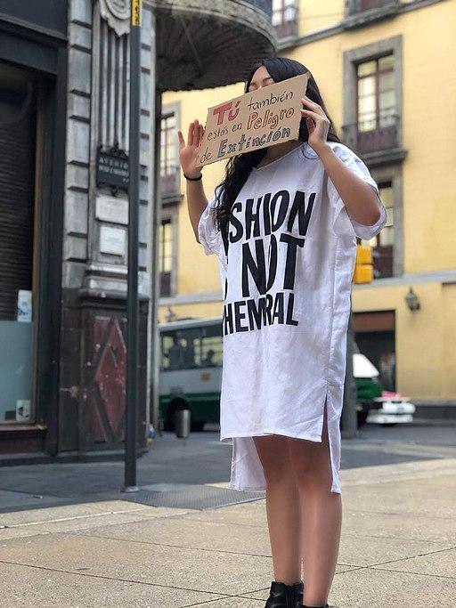Fashion is not Ephemeral- Misión Planeta 2019 protest