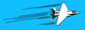 Fast aeroplane with motion lines.png