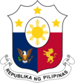 Fictional Coat of arms of the Philippines in Navy Blue.png