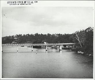 Fig Tree Bridge - The first Fig Tree Bridge