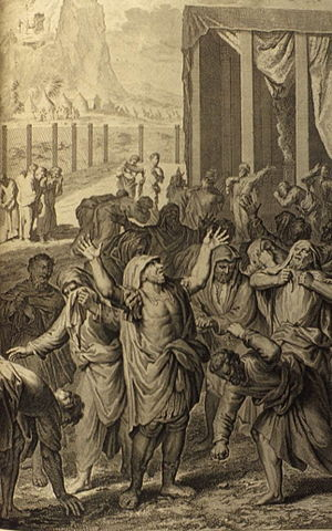 Israel in Egypt -  The Israelites Mourn, from a 1728 illustrated Bible