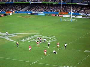 Sport in Oceania - Fiji playing Wales at seven-a-side rugby