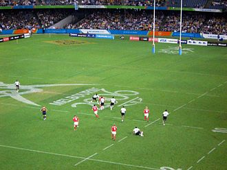 Rugby sevens at the 2006 Commonwealth Games - Fiji playing Wales