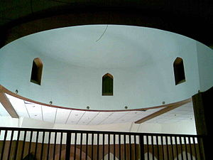 Finsbury Park Mosque - The interior of the dome inside the North London Central Mosque