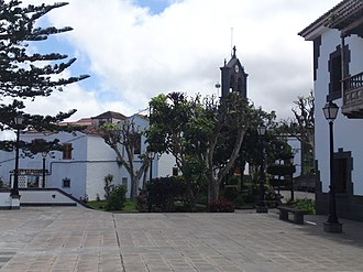Firgas - San Roque town square in Firgas.