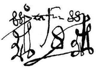 Pedro Tafur - Reproduction of Tafur's signature
