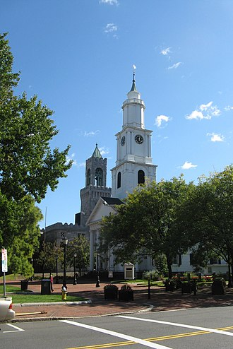 Pioneer Valley - The First Church of Christ in Springfield's Court Square was the 20th parish gathered in the Massachusetts Bay Colony, in 1637.