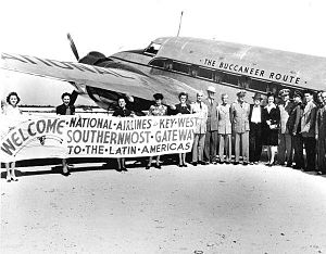 Key West International Airport - First scheduled service between Miami and Key West by National Airlines (February 10, 1944)