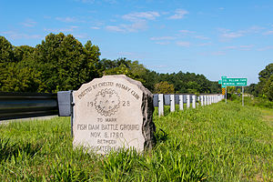 South Carolina Highway 121 - Monument to the Battle of Fishdam Ford, located on the east bank of the Broad River