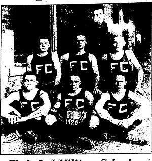 Wallace Wade - Fitzgerald and Clarke 1920 basketball team. Wade is in back.