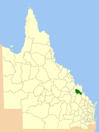Shire of Fitzroy - Location within Queensland