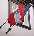 Flag of Austria in Vilnius Austrian Embassy.jpg