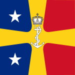 Flag of Romanian Commander of the Navy as Vice Admiral (WWII).svg