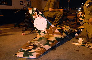 August 7, 2006 Pieces of a Hezbollah UAV (Unma...