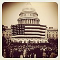Flickr - USCapitol - Happy Flag Day^ First Flag Day at Capitol June 9, 1919, flag was largest in world at 90'x165'.jpg