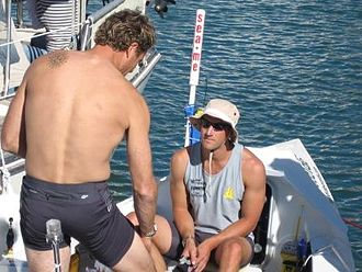 Ben Fogle - Fogle and Cracknell before the start of the 2005 Atlantic Rowing Race