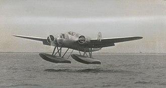 Fokker T.VIII - Front view of a T.VIII in flight