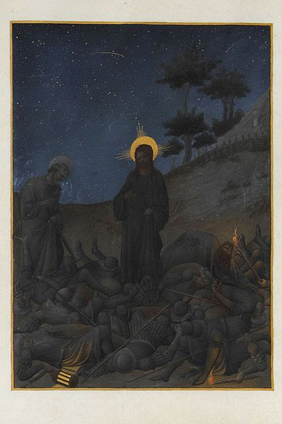 Image:Folio 142v - Christ in Gethsemane.jpg