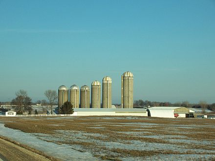 Farming in western Fond du Lac County
