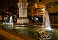 Font del monument a Cervantes de València per la nit.JPG