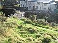 Footbridge crossing stream in Blaenau Ffestiniog - geograph.org.uk - 1553318.jpg