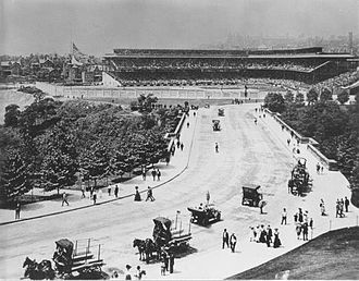 Forbes Field - Forbes Field and street, 1909