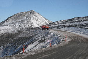 Foremost Delta II driving from McMurdo Station...