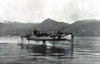Enrico Forlanini - Forlanini hydrofoil on Lake Maggiore circa 1911
