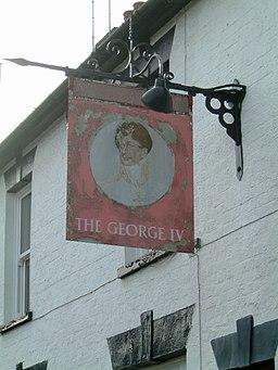 Former George IV Pub Sign Harpenden