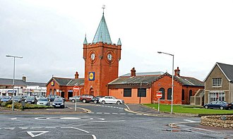 Newcastle (County Down) railway station - Image: Former railway station, Newcastle geograph.org.uk 1000456