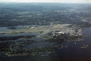former airport in Bærum, Akershus, Norway