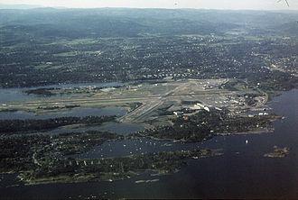 Oslo Airport, Fornebu - Image: Fornebu aerial photo