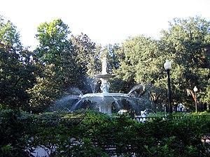 Forsyth Park - Image: Forsyth park fountain