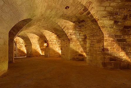 Fort de Bois l'Abbé: inside the double caponier.