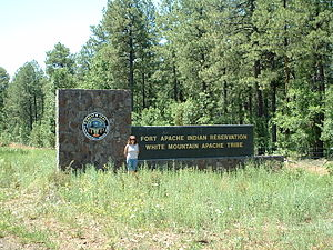 Fort Apache Indian Reservation - The Fort Apache Indian Reservation, south of Pinetop-Lakeside, Arizona