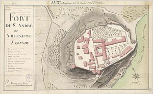 Fort Saint-André (Villeneuve-lès-Avignon) - Plan of Mount Andaon in 1769