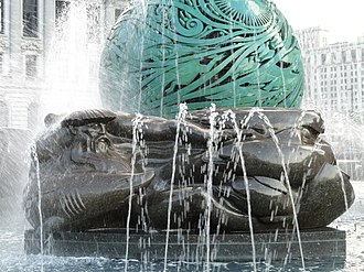 Fountain of Eternal Life - Image: Fountain of Eternal Life, base Cleveland, Ohio DSC07933