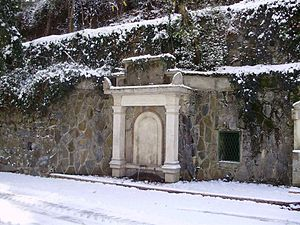 Platres - Fountain of Roxanne Koudounaris in the Winter