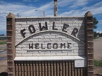 Fowler, Colorado - Fowler welcome sign