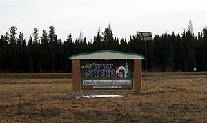 Fox Creek, Alberta - Image: Fox Creek sign