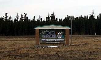 Fox Creek, Alberta - Image: Fox Creek sign