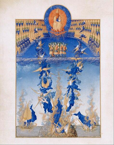 File:Frères Limbourg - Très Riches Heures du duc de Berry - chute des anges rebelles - Google Art Project.jpg