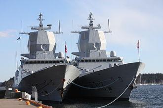 Fridtjof Nansen-class frigate - Image: Fr Nansen frigates Oslo