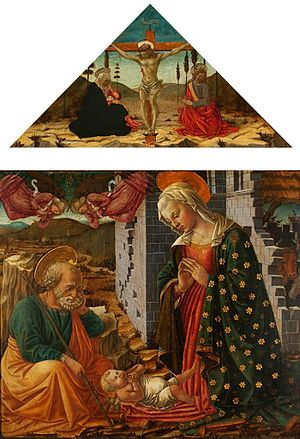 Fra Diamante - Adoration of the Child, paintings by Fra Diamante, c. 1470, National Museum in Warsaw.