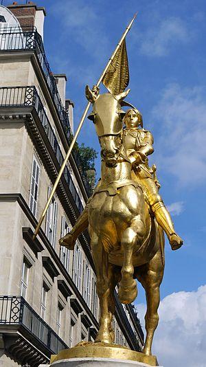 Cultural depictions of Joan of Arc - Joan of Arc statue at Place des Pyramides, Paris by Emmanuel Frémiet, 1874