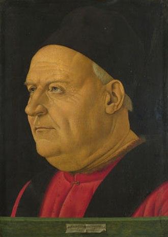 Francesco Bonsignori - Bonsignori: Portrait of an Elderly Man, also deduced as Portrait of a Venetian Senator. The National Gallery, London. (1487)