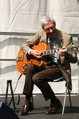 1926 in jazz - Jazz guitarist Franco Cerri in Milano, Italy in September 2008
