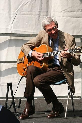 Franco Cerri - Jazz guitarist Franco Cerri in Milan, Italy, September 2008