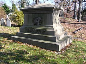 Frank Leslie - Grave monument of Frank Leslie in Woodlawn Cemetery, the Bronx, New York City