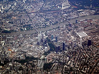 Metropolitan regions in Germany - Image: Frankfurt am Main from a plane